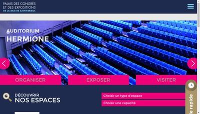 Site internet de Saint Brieuc Expo Congres