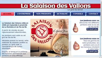 Site internet de Salaison des Vallons