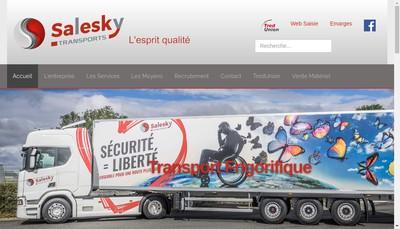 Site internet de Salesky Ouest