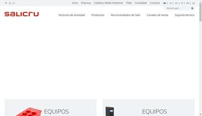 Site internet de Salicru France