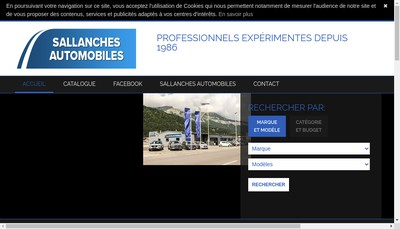 Site internet de Sallanches Automobiles