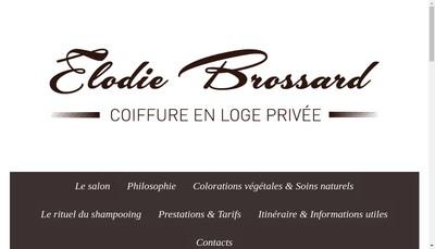 Site internet de Elodie Brossard