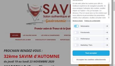 Site internet de Savim Expo