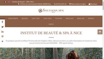 Site internet de Salvana Spa