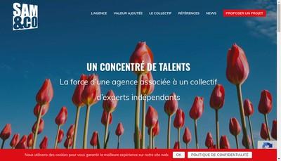 Site internet de Sam And Co