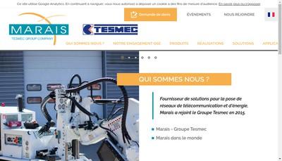 Site internet de Groupe Marais