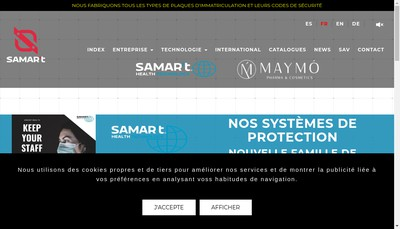 Site internet de Samar'T France - SIIL