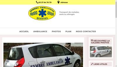 Site internet de Sambre Ambulances Questel