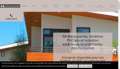 Site internet de SA Menuiserie