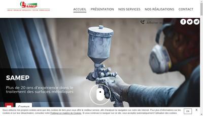 Site internet de Samep