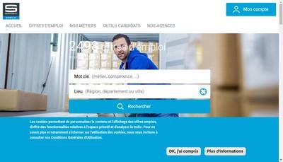 Site internet de Samsic Interim Ploermel