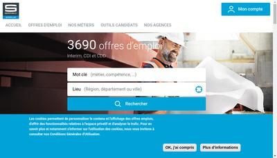 Site internet de Samsic Emploi Languedoc Roussillon Perpignan