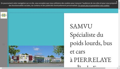 Site internet de Samvu Carrosserie