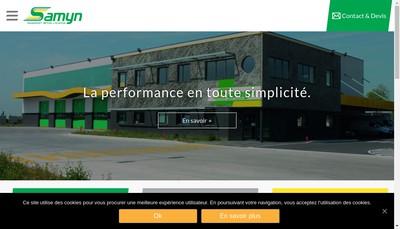 Site internet de Transports Samyn