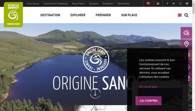 Site internet de Garage du Sancy
