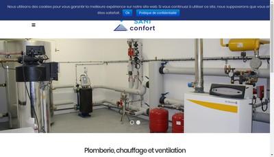 Site internet de Sani Confort