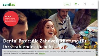 Site internet de Sanitas