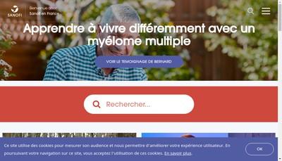 Site internet de Genzyme, a Sanofi Company