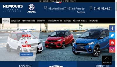 Site internet de Nemours Service Automobile