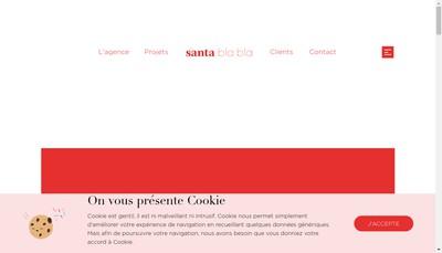 Site internet de Santa Bla Bla