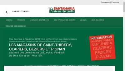 Site internet de Santamaria - Jardin - Equipement