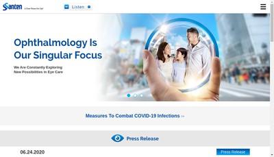 Site internet de Novagali Pharma Santen