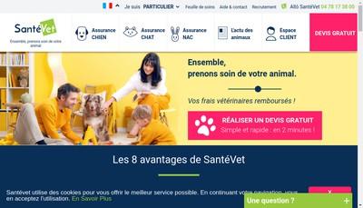 Site internet de Santevet
