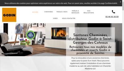 Site internet de Santones Cheminees