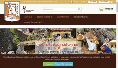 Site internet de Atelier de Santons Fouque