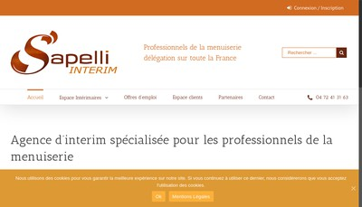 Site internet de Sapelli Interim