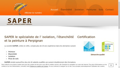 Site internet de Saper