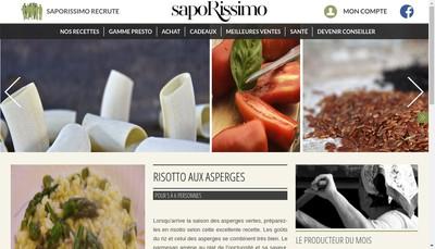 Site internet de Saporissimo