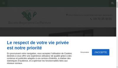 Site internet de Societe Angerienne de Peinture