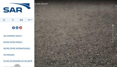 Site internet de Societe d'Applications Routieres (Sar)