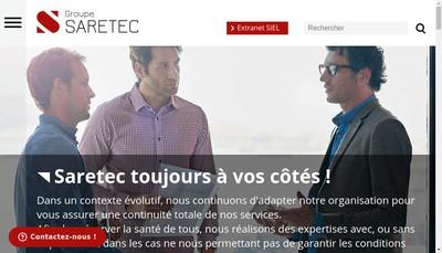 Site internet de Saretec Developpement