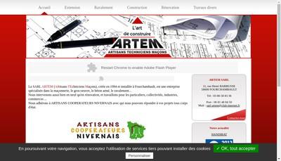 Site internet de Artem