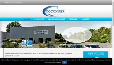 Site internet de SARL Coconnier Michel