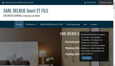 Site internet de Delrue Geert et Fils