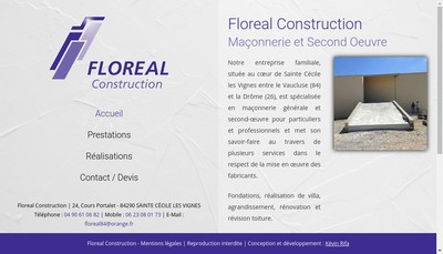 Site internet de Floreal