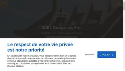 Site internet de SARL Goncalves Eric