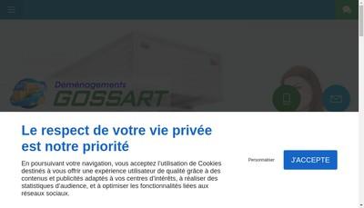 Site internet de Demenagements - Transports Gossart