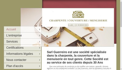 Site internet de SARL Guerreiro