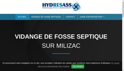 Site internet de Hydresass