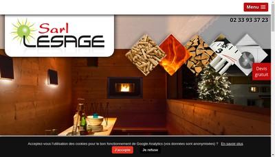 Site internet de Electricite Lesage