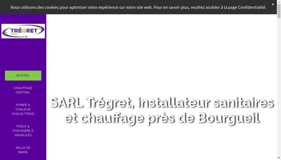 Site internet de Tregret Pere & Fils