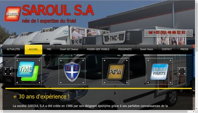 Site internet de Saroul SA