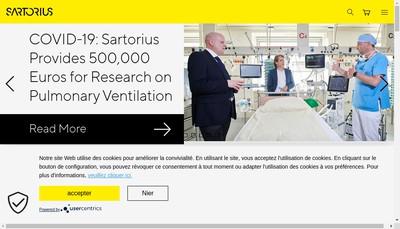 Site internet de Sartorius Stedim Fmt SAS