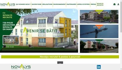 Site internet de Novalys
