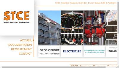 Site internet de Societe de Travaux du Centre Est