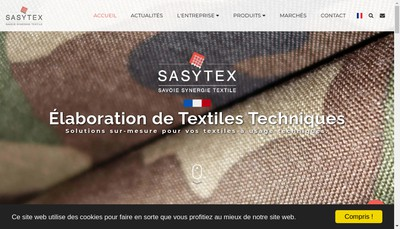 Site internet de Savoie Synergie Textile - Sasytex